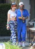 Bella Thorne and new boyfriend Mod Sun hold hands while out on lunch in Los Angeles