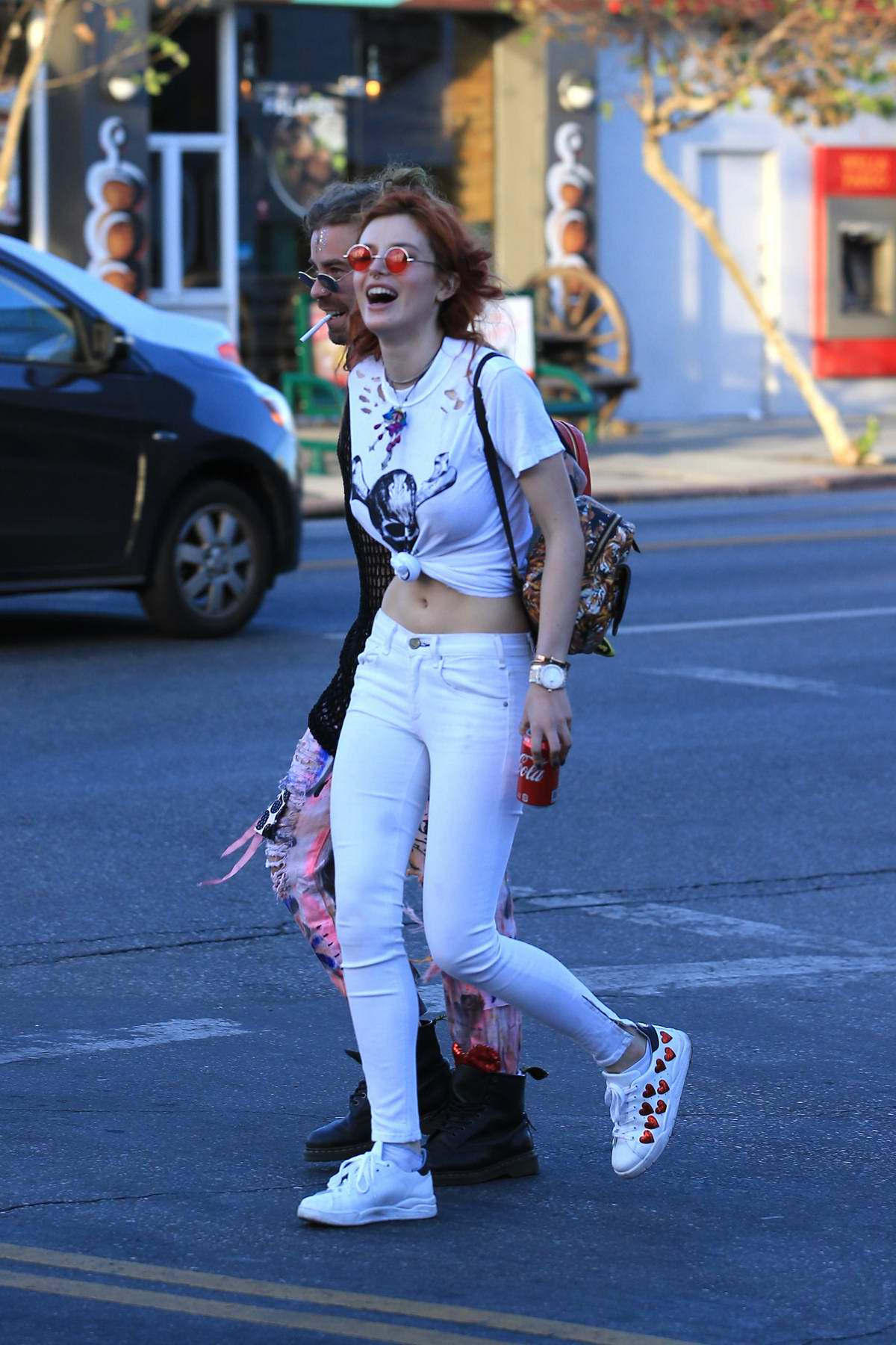 Bella Thorne was spotted leaving Body Electric Tattoo Shop in West Hollywood, Los Angeles