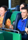Brie Larson and fiance Alex Greenwald enjoy a day at Disneyland, California