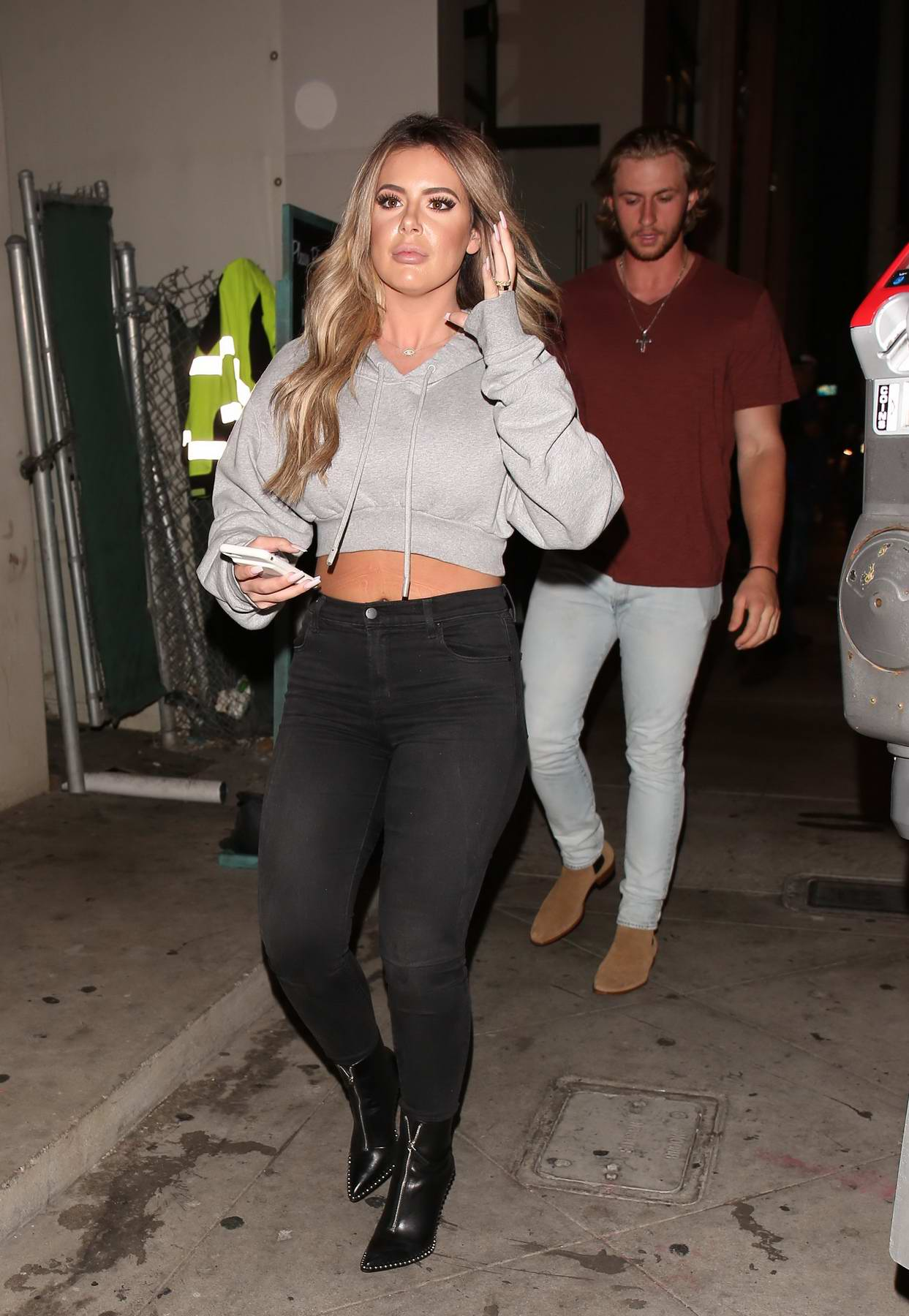 Brielle Biermann has a dinner date with her boyfriend at Catch in Los Angeles