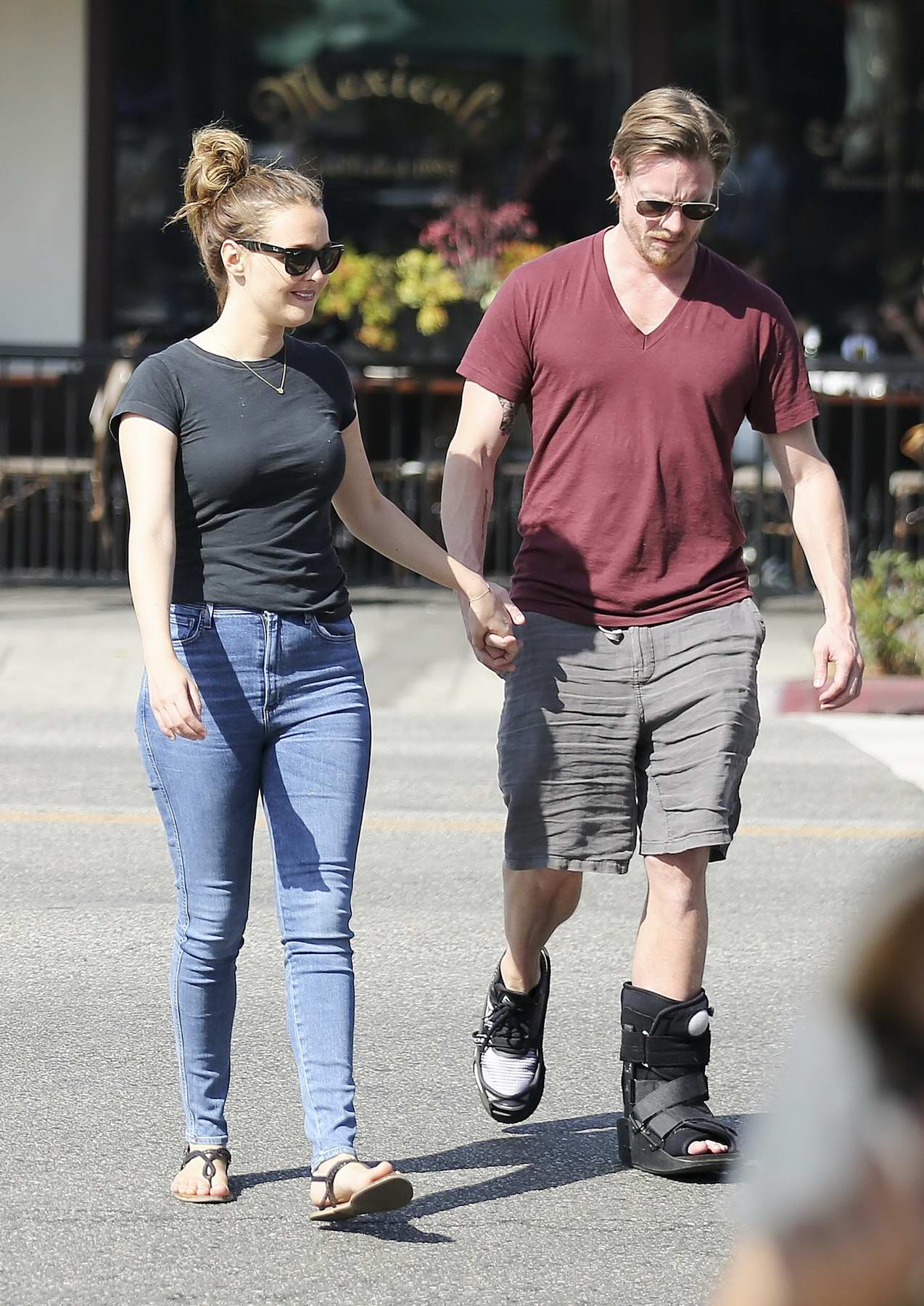 Camilla Luddington and boyfriend Matthew Alan out and about in Los Angeles