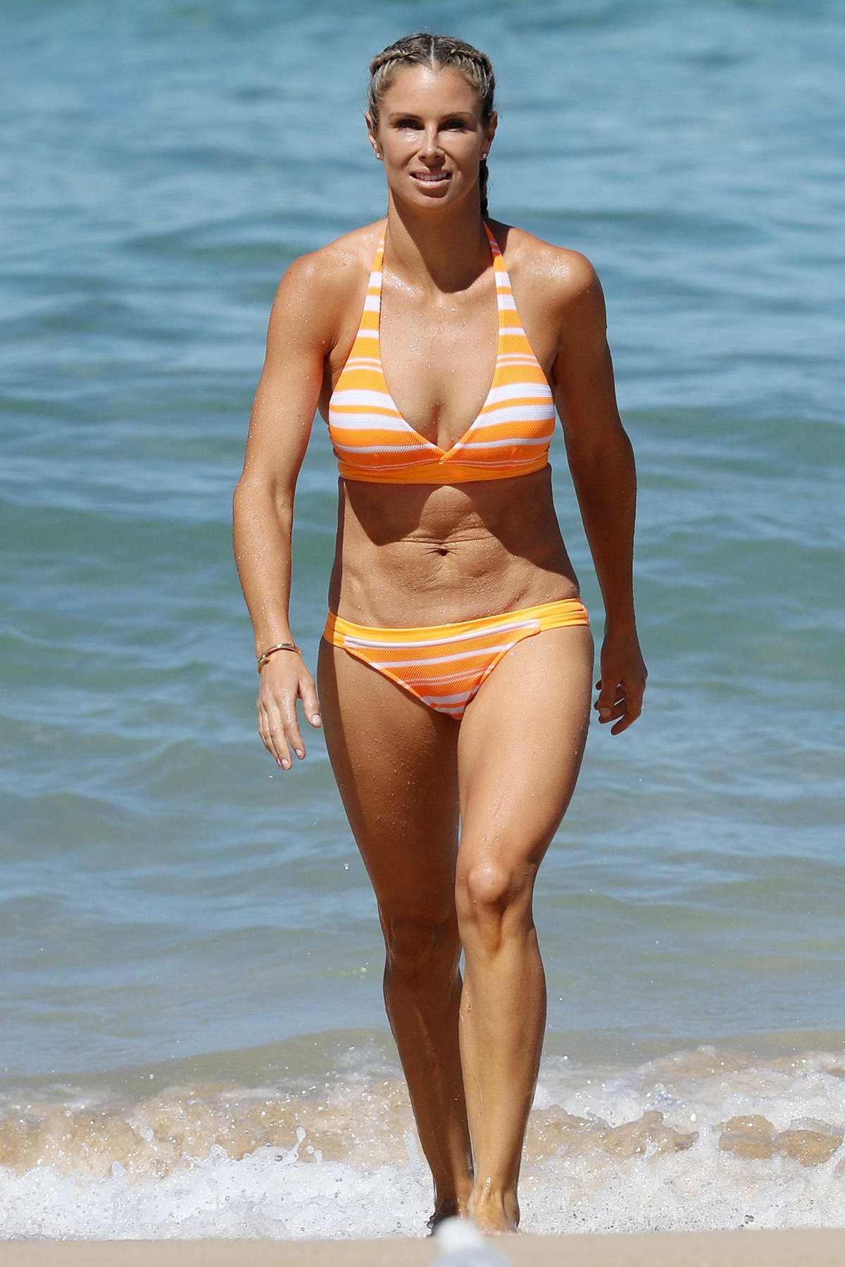 Ironwoman Candice Warner In A Bikini While Out On The Beach In Coogee Australia