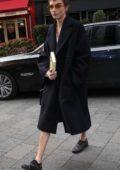 Cara Delevingne arrives at Global Radio in London