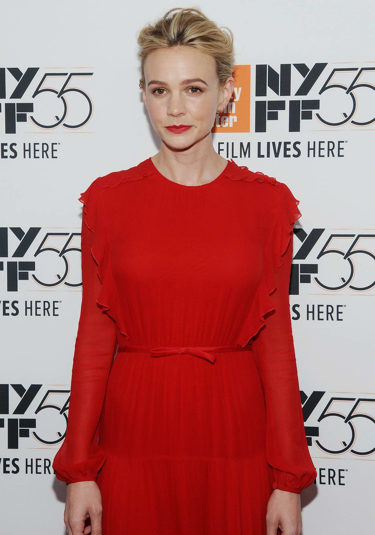 Carey Mulligan at the screening of 'Mudbound' during 55th New York Film Festival in New York City