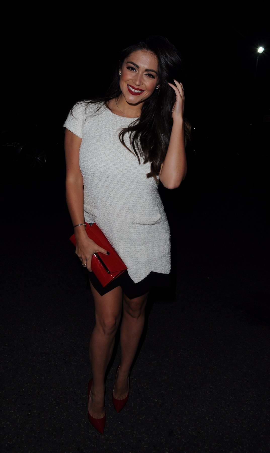 Casey Batchelor and Jemma Lucy arrives at the Elbrook Gala Ball at Chak 89 in Mitcham, UK