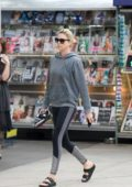 Charlize Theron heads to Soul Cycle for a morning workout in Los Angeles