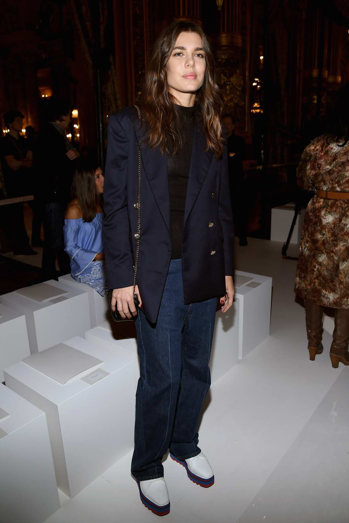 Charlotte Casiraghi at Stella McCartney Show, spring summer 2018 during Paris Fashion Week, France