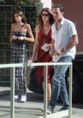 Cindy Crawford takes daughter Kaia to Ivy at the Shore for a meal out in Santa Monica, California