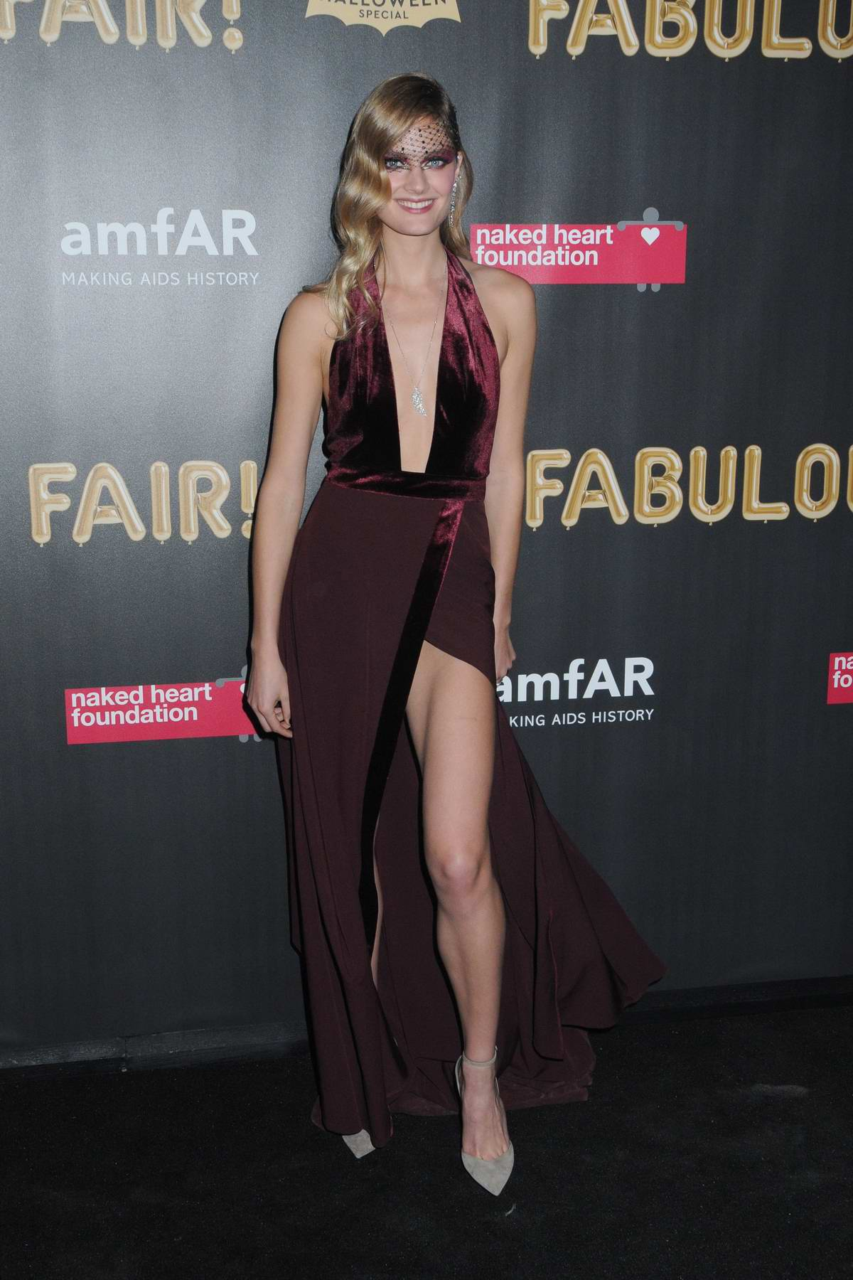 Constance Jablonski at the 2017 amfAR Fabulous Fund Fair at Skylight Clarkson SQ in New York City