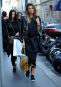 Cristina Buccino out for some shoe shopping in Milan, Italy