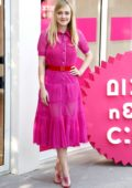 Dakota Fanning dressed in pink at the photocall of 'Please Stand By' during Rome Film Festival in Rome, Italy