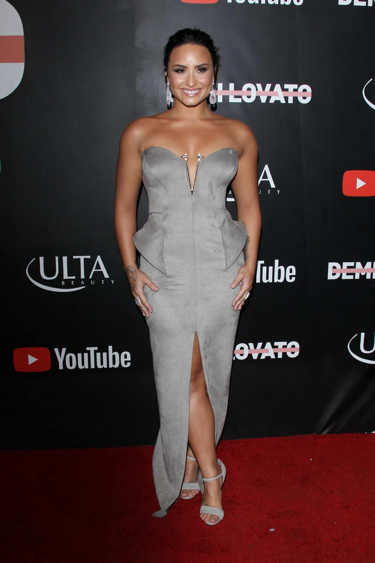 Demi Lovato at Youtube premiere of Demi Lovato: Simply Complicated in Los Angeles