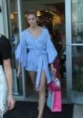 Devon Windsor shopping at Beach Bunny Swimwear in Miami Beach, Florida