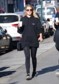 Dianna Agron heading to a gym in New York City