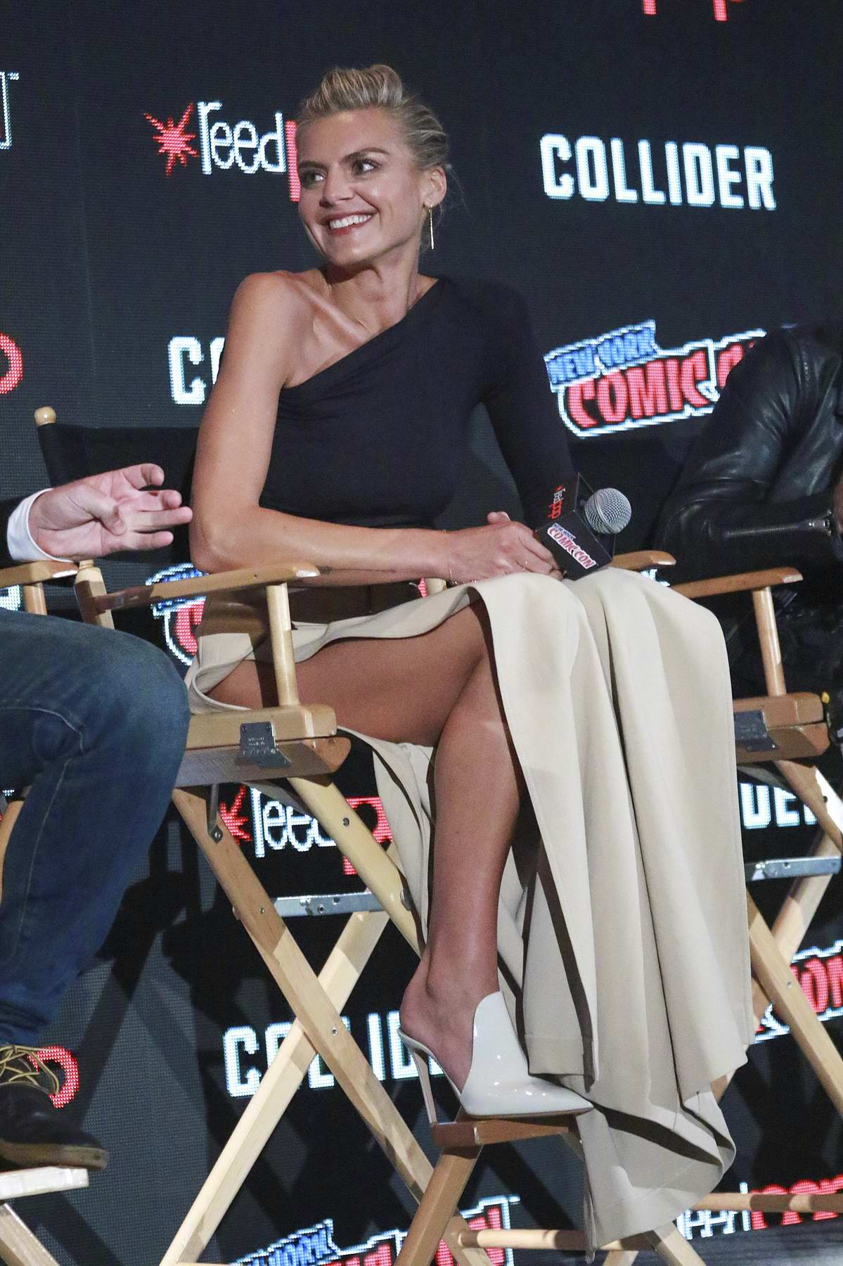 Eliza Coupe at 'Future Man' panel event during New York Comic-Con 2017 in New York
