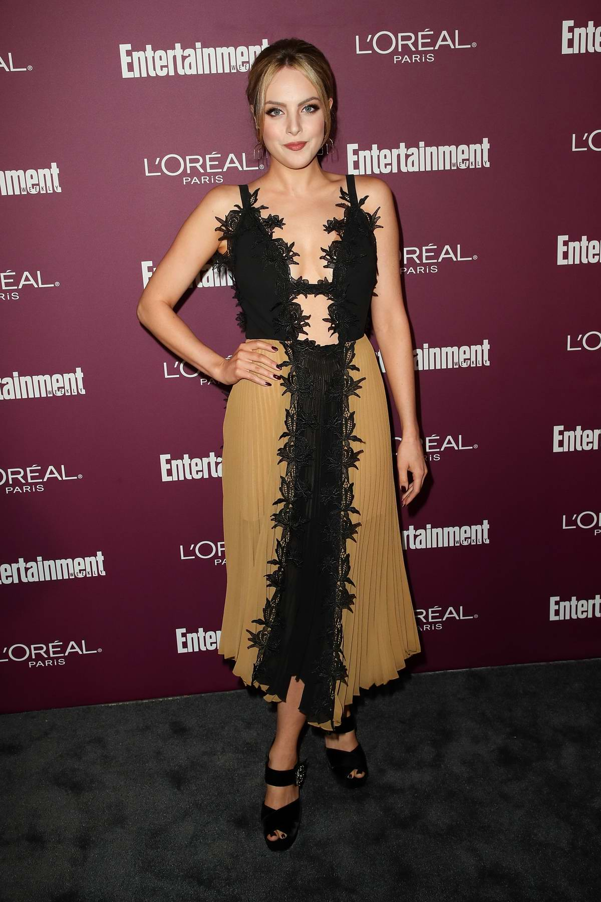 Elizabeth Gillies at 2017 Entertainment Weekly Pre-EMMY party in West Hollywood, Los Angeles