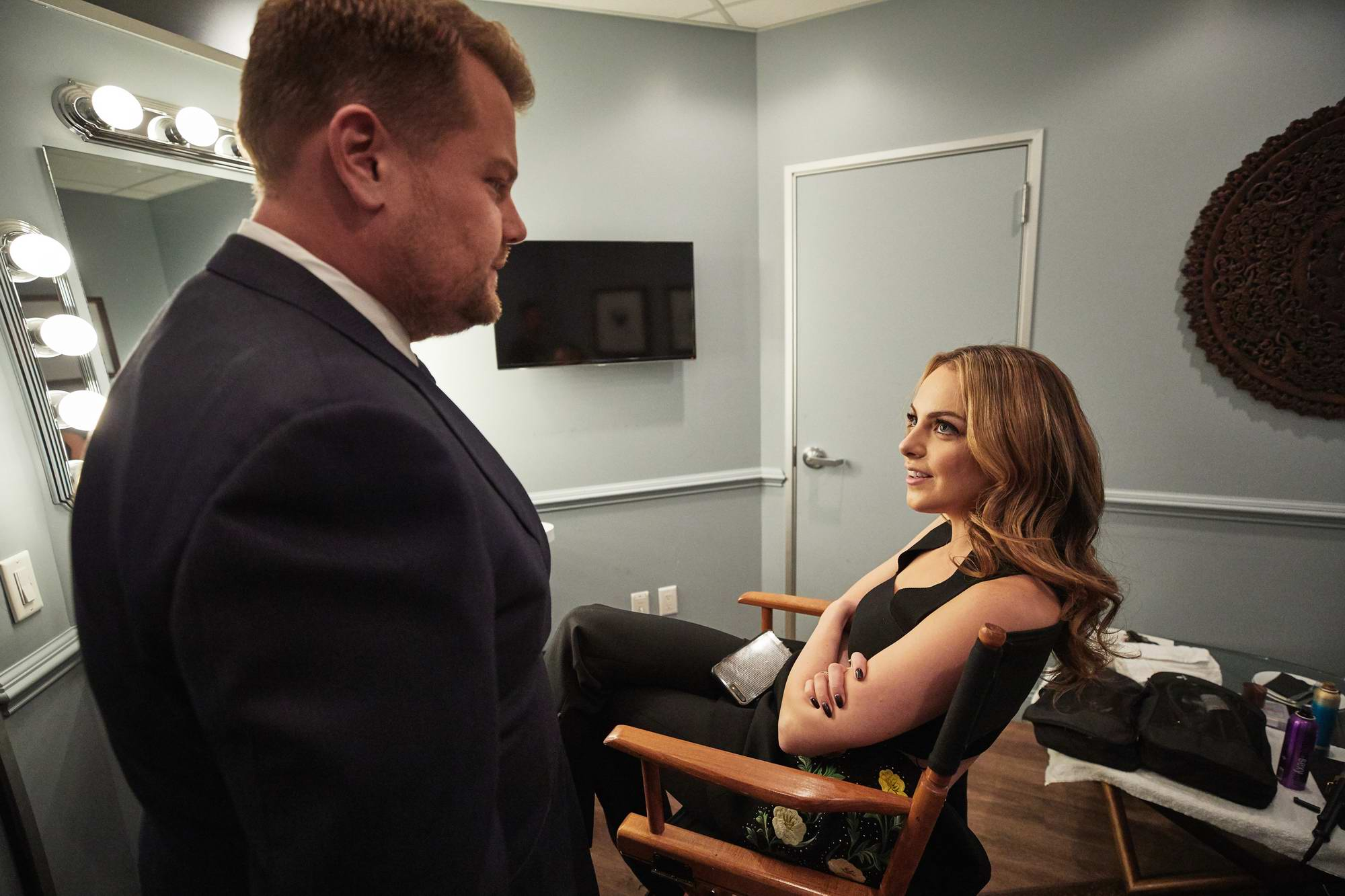Elizabeth Gillies visit The Late Late Show with James Corden in Los Angeles