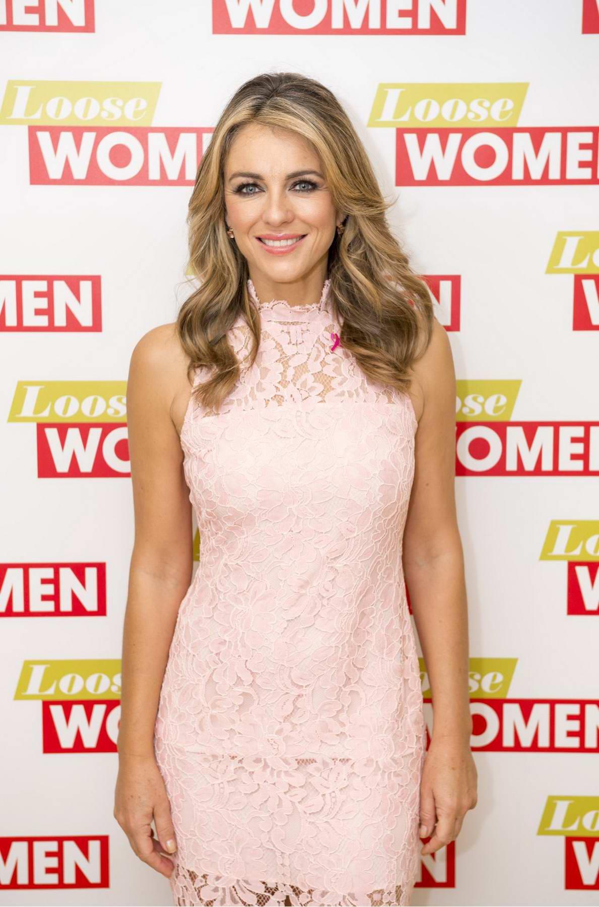 Elizabeth Hurley on Loose Women TV show in London