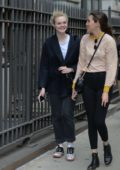 Elle Fanning out and about with friends in New York City