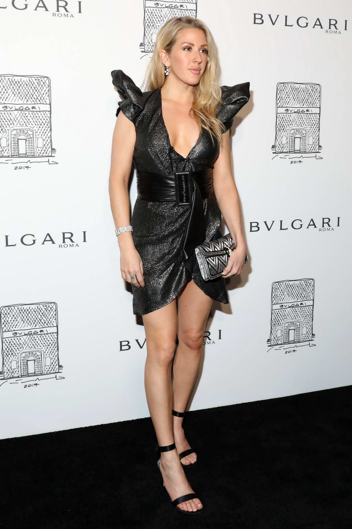 Ellie Goulding at BVLGARI 5th avenue flagship store opening in New York