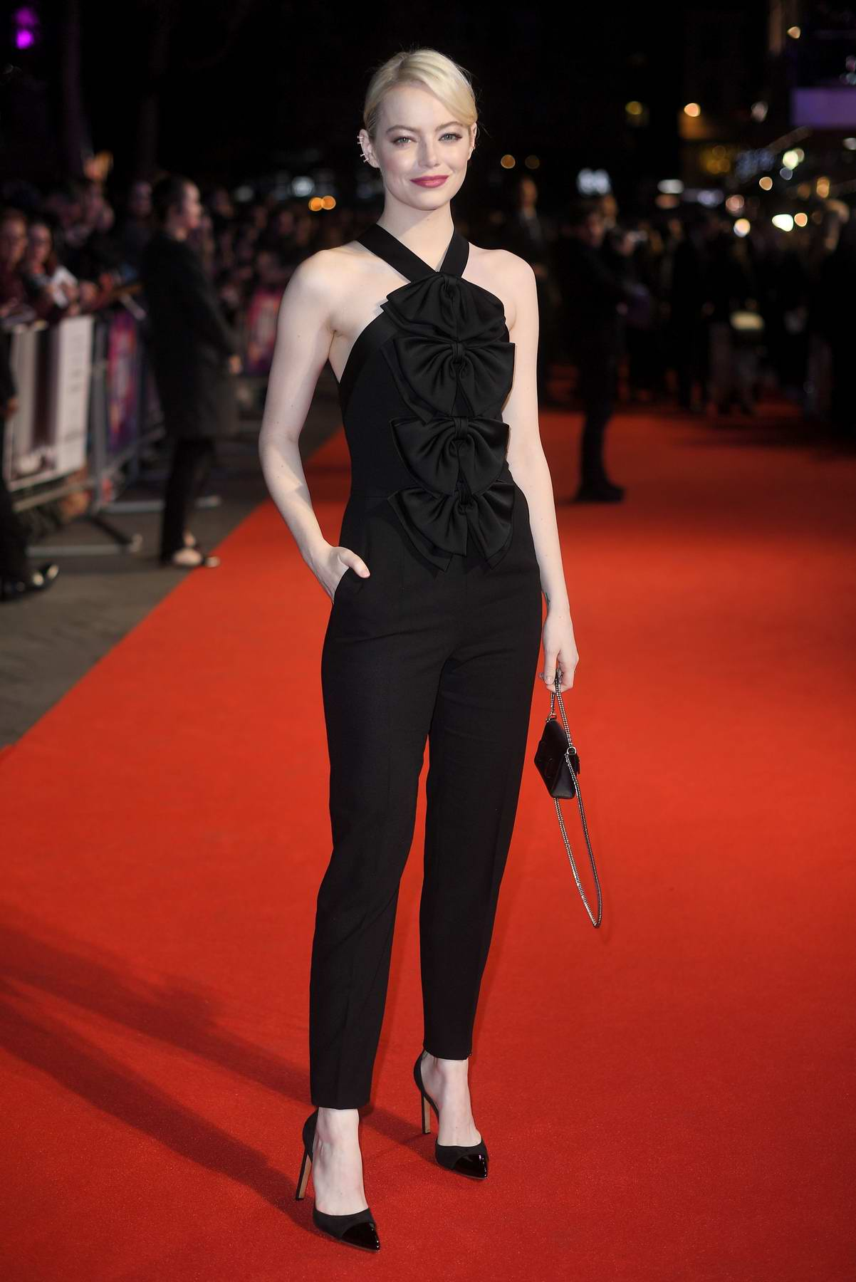 Emma Stone at the premiere of Killing of a Sacred Deer in London