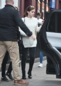 Emma Watson out and about with a friend in Soho, London
