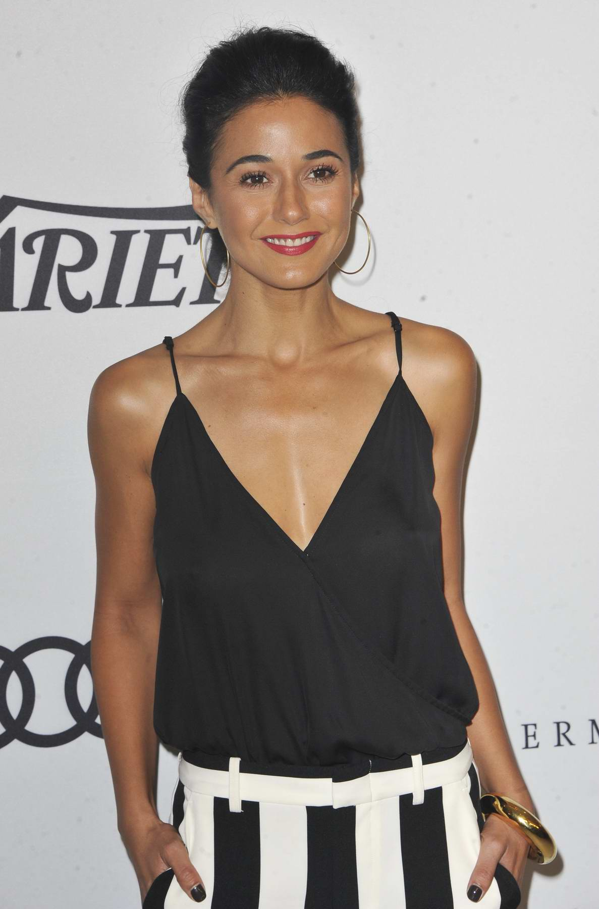 Emmanuelle Chriqui attends Variety's Power of Women presented by Lifetime in Los Angeles