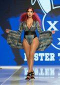 Farrah Abraham walks the runway at LA fashion week spring-summer 2018 in Los Angeles