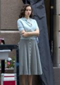 Felicity Jones on set of her new film 'On the Basis of Sex' in Montreal, Canada