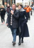 Gemma Arterton and boyfriend Rory Keenan enjoy a walk around town in Dublin, Ireland