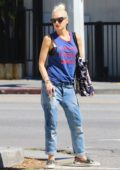 Gwen Stefani paid a visit to California Cryobank in Studio City, Los Angeles
