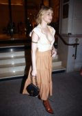 Haley Bennett leaving the Shangri-La Hotel in Paris, France