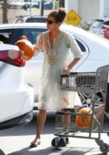 Halle Berry buys a pumpkin at Bristol Farms as Halloween approaches, Los Angeles