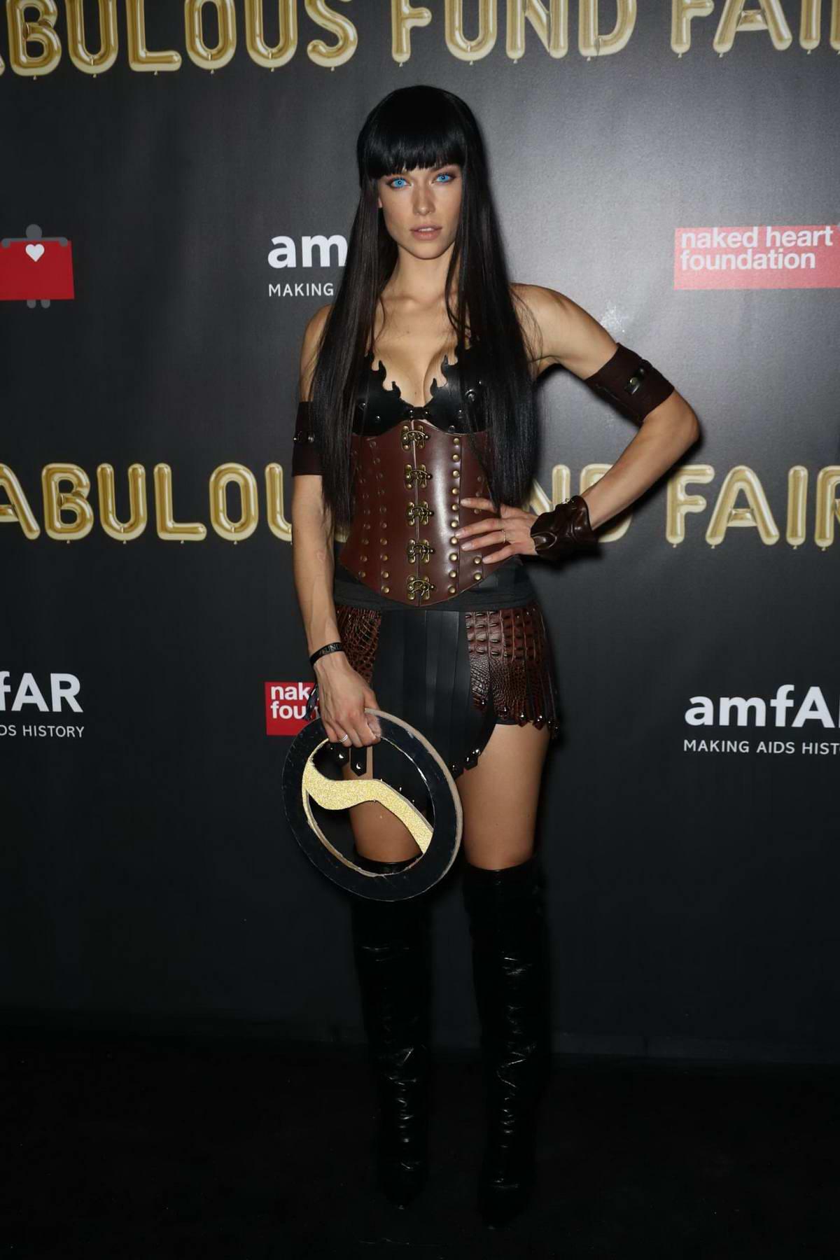 Hannah Ferguson at the 2017 amfAR Fabulous Fund Fair at Skylight Clarkson SQ in New York City