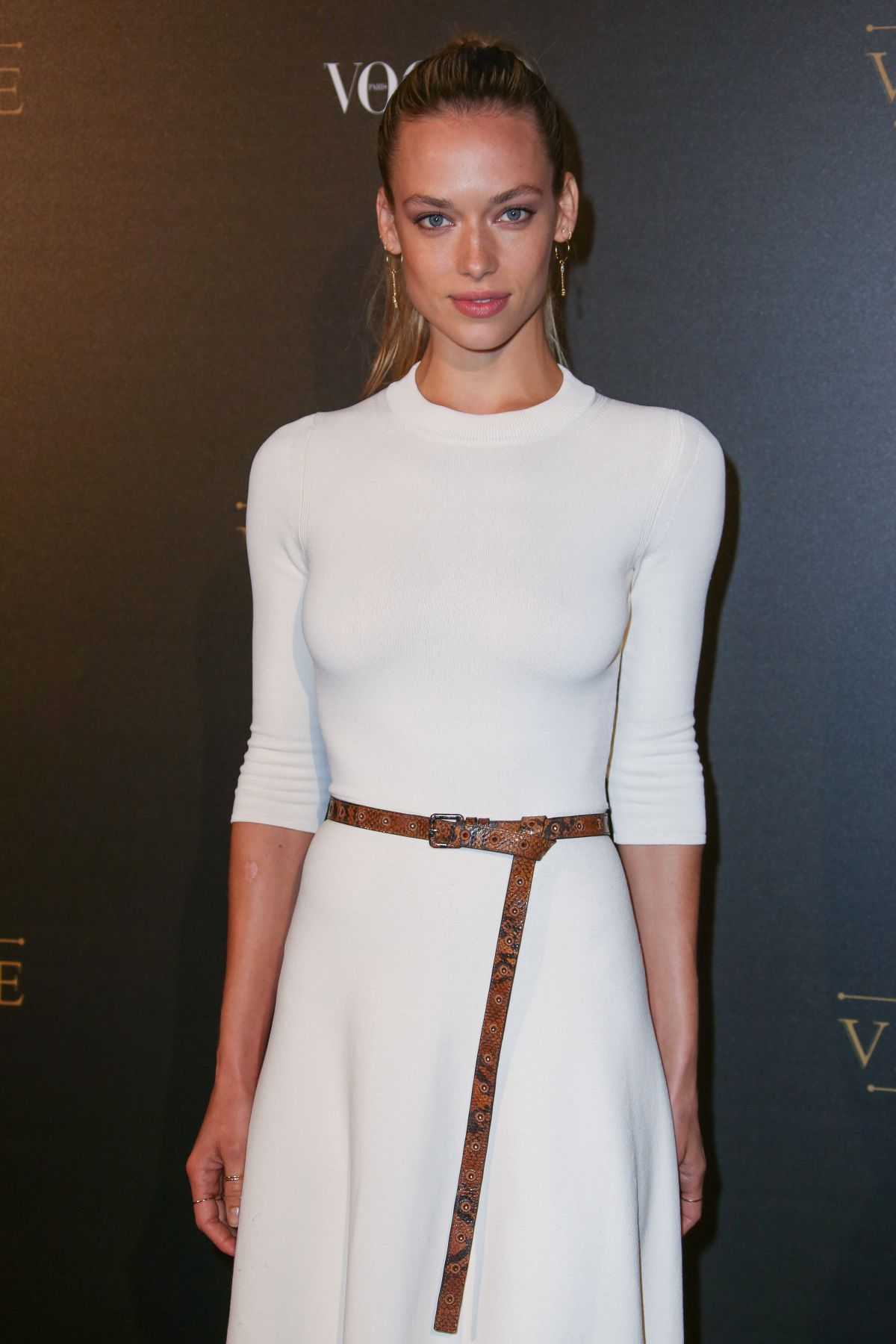 Hannah Ferguson at Vogue X Irving Penn Party during Paris Fashion Week, France