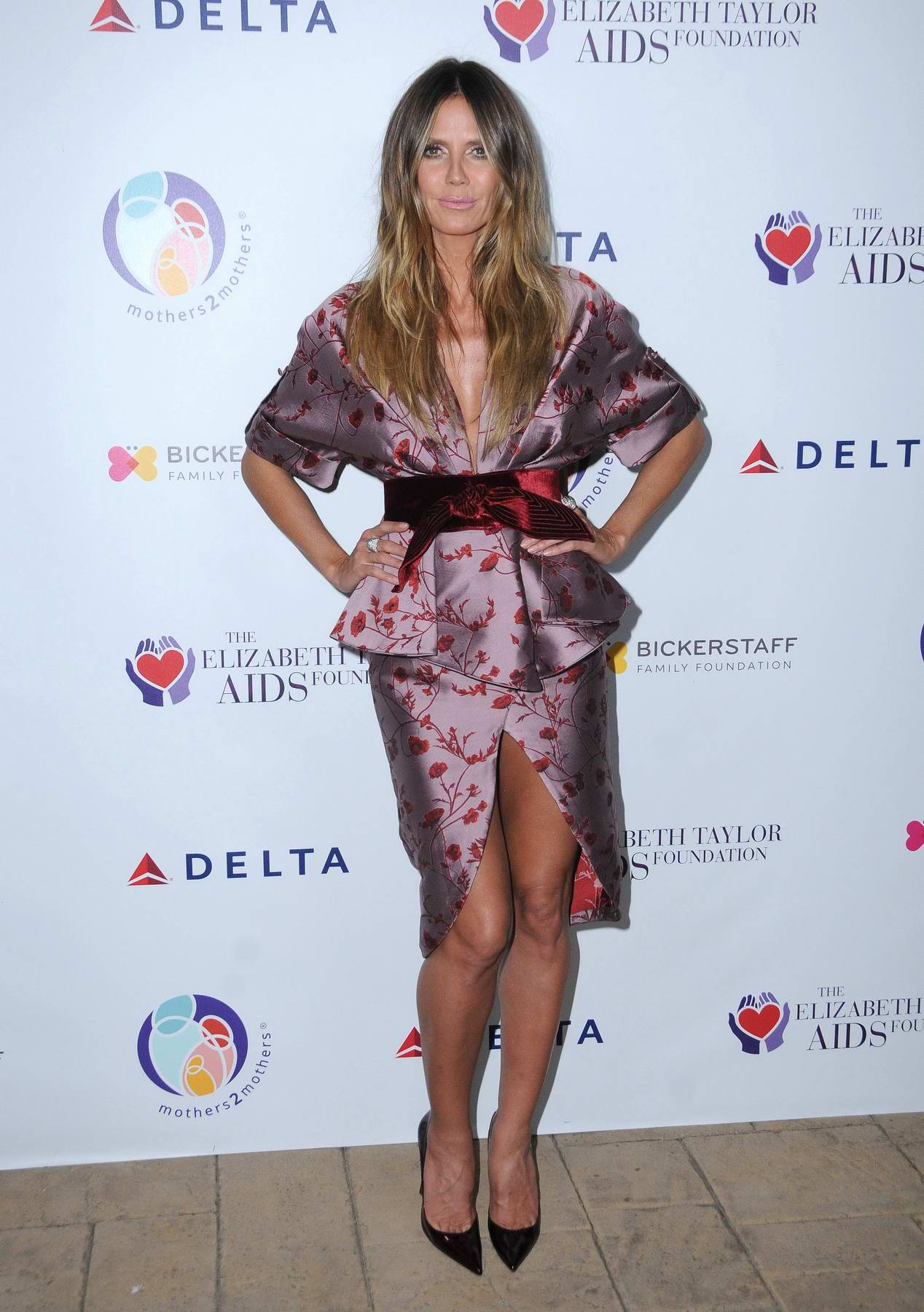 Heidi Klum at Elizabeth Taylor AIDS Foundation and mothers2mothers benefit dinner in Los Angeles