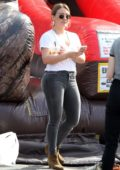 Hilary Duff and Matthew Koma shops at the Farmers Market in Studio City, Los Angeles