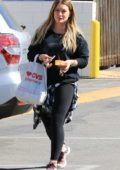 Hilary Duff goes shopping at CVS in Los Angeles