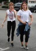 Hilary Duff out with Molly Bernard in West Hollywood, Los Angeles