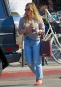 Hilary Duff steps out for a fresh pressed juice and coffee in Studio City, Los Angeles