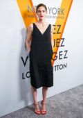 Hilary Rhoda at Louis Vuitton 'Volez, Voguez, Voyagez' exhibition opening in New York