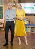 Holly Wiloughby at TV show 'This Morning' in London