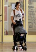 Irina Shayk out for shopping with her baby in Pacific Palisades, Los Angeles