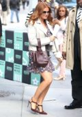 Isla Fisher at the AOL Build Studios in New York City