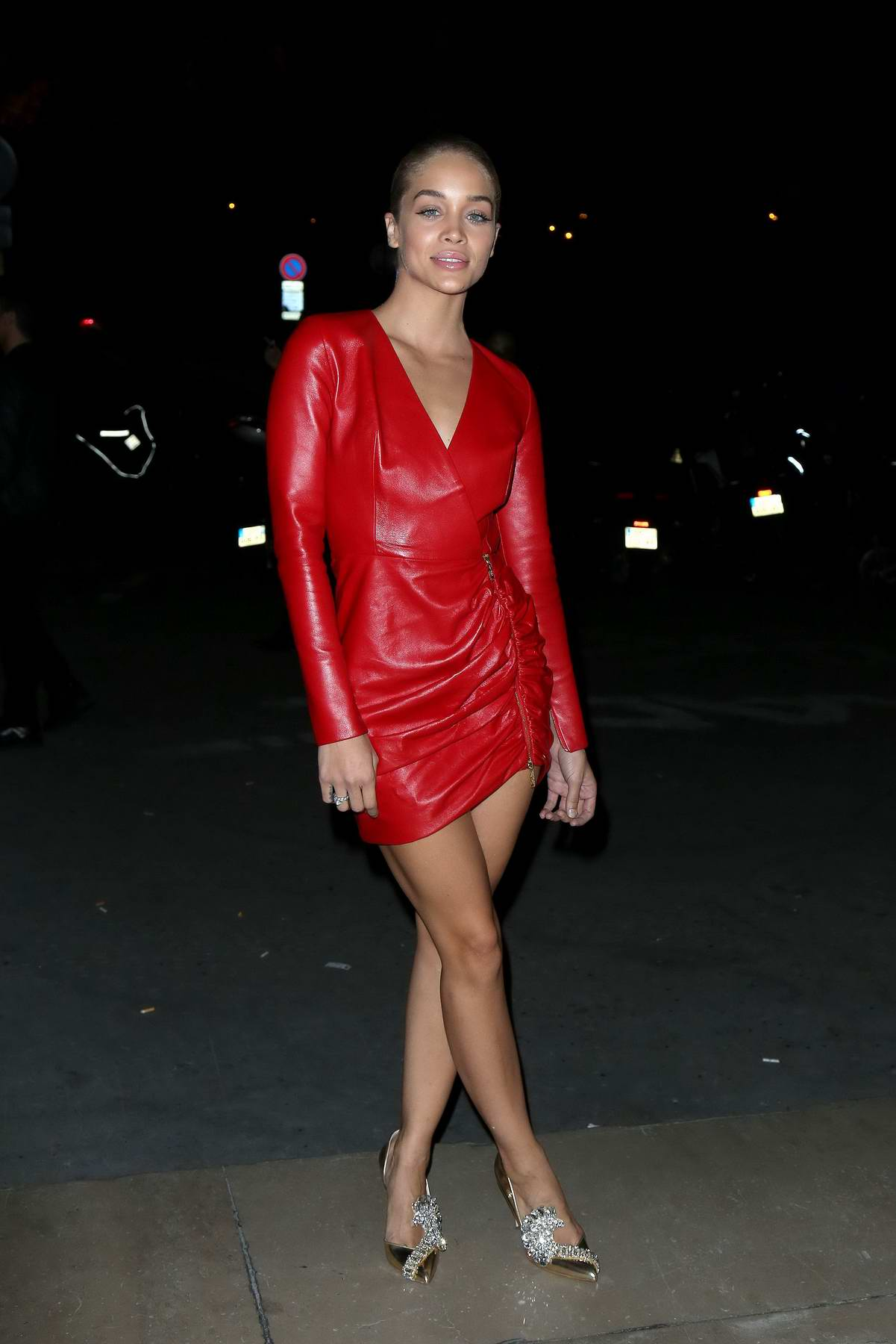 Jasmine Sanders at CR Fashion Book Launch Party during Paris Fashion Week, France