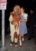 Jasmine Sanders dressed as Dorothy with her boyfriend Terrence J heading to a Halloween party in Hollywood, Los Angeles