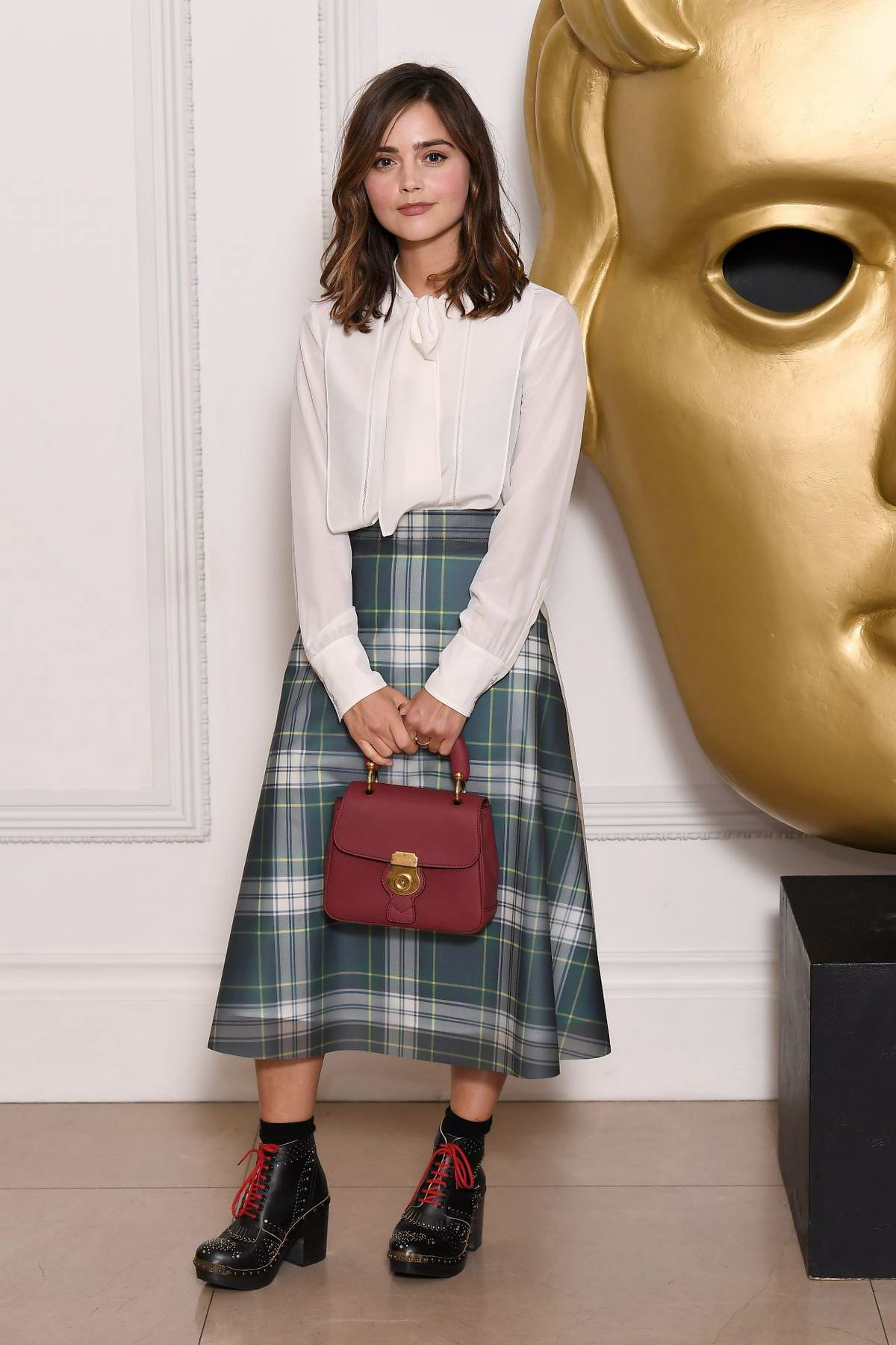Jenna Coleman at BAFTA breakthrough brits in London