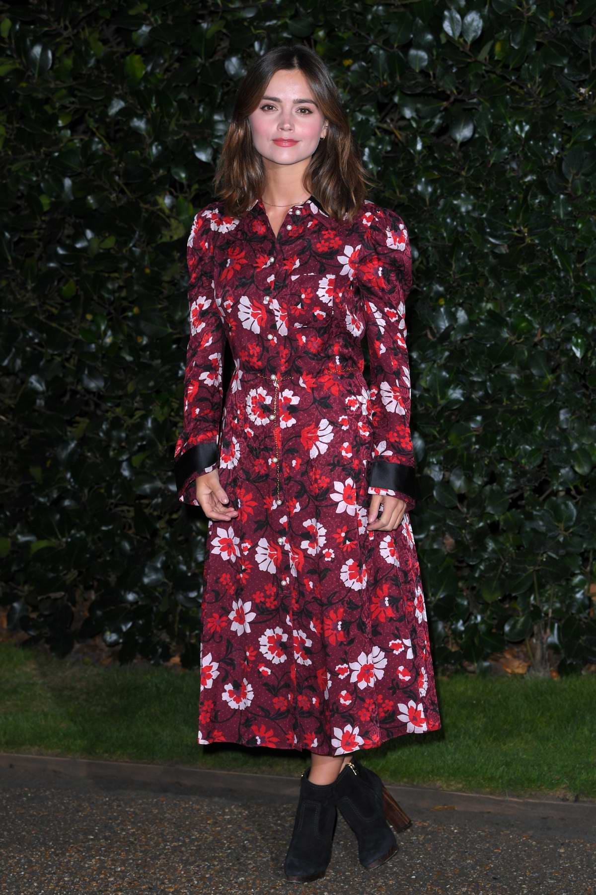 Jenna Coleman at Victoria TV show photocall and Q&A at Kensington Palace in London