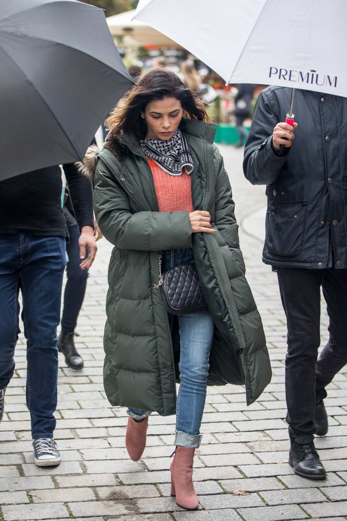 Jenna Dewan Tatum spotted in front of the Titanic Hotel in Berlin, Germany