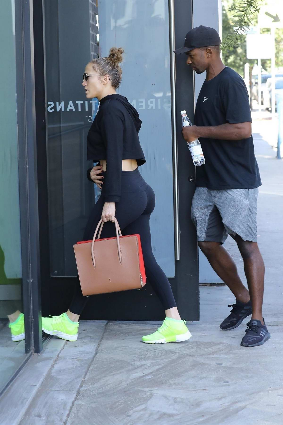 Jennifer Lopez heads to the gym in New York City